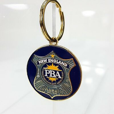 New England PBA National Law Enforcement Officers Metal Enamel Key Chain Ring
