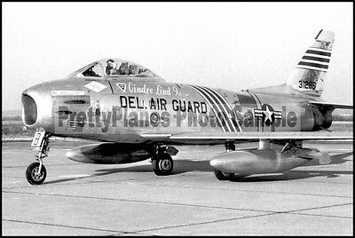 DEL-ANG F-86 Sabre 142nd TFS New Castle 8x12 Photo