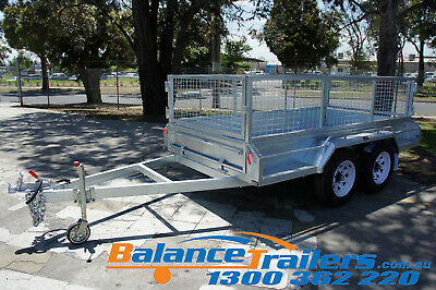 10x5 HOT DIP GALVANISED FULL WELDED TANDEM TRAILER ATM3200KG 3.2 WITH 900MM CAGE