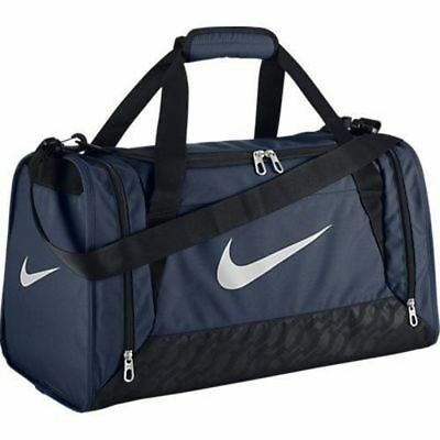 b2e079c0a3 Nike Brasilia 6 Size SMALL Duffel Bag Gym Travel BA4831 401 Navy Blue White  NWT