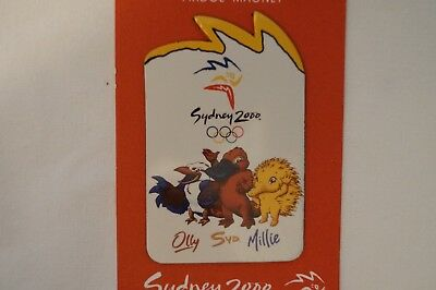 Olympic Games Collectable - Sydney - 2000 - Mascots Fridge Magnet.
