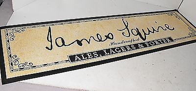 James Squire Handcrafted Ales & Largers Bar Matt Rubber Backed As New Condition.
