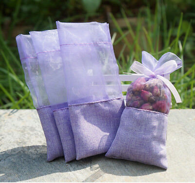 TooGet Sachet Empty Bags Linen Fabric Bags Organza Gauze Bags 3x6 Inch,12-Pack