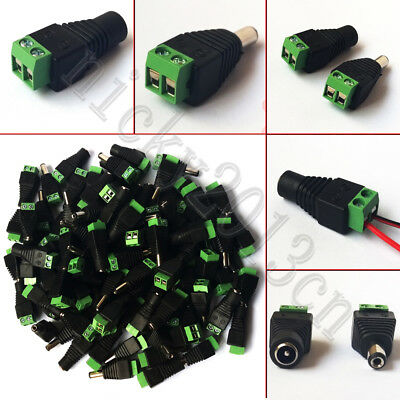 Wholesale DC Connector Male Female Jack Plug Adapter 2.1mm 5.5mm for Strip