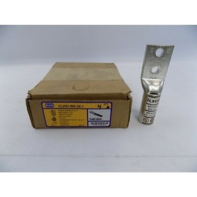 NIB Ilsco CLWD-500-38-1 SURECRIMP 2Hole Loong With Sight 500kcmil