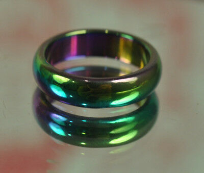 Rainbow 7 Color Ring Leklai Thai Metal Charms Top Amulet jewelry PENDANT Size 8