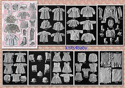 100+ RARE VINTAGE 1920's BABY KNITTING & CROCHET PATTERN