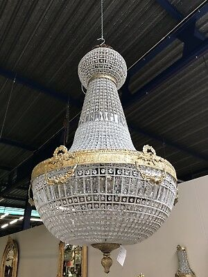 Antique, French Chandelier, Vintage, Industrial, HUGE 180cm Tall