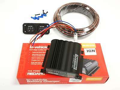 Redarc Dual Battery Isolator Dc To Dc Charger Agm Sla Bcdc1220Ign Kit