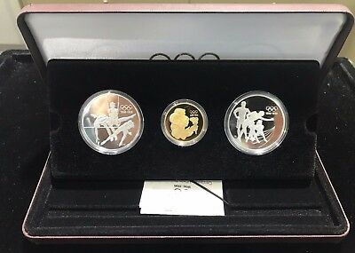 1993-1996 Canada Centenary of Olympics 3-Coin Gold/Silver Set