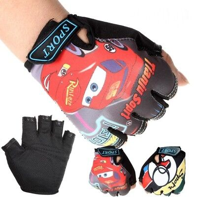 Kids Children Cycling Half Finger Gloves Boys Girls MTB BMX Bike Bicycle Scooter