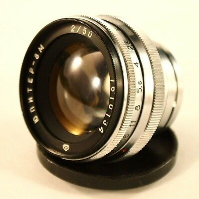 Soviet Lens 50 mm  f/2 JUPITER-8M   Mount CONTAX. For KIEV 2, 3, 4. USSR