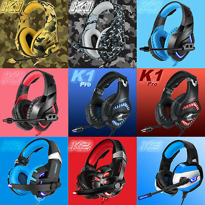 ONIKUMA K1 Pro/2/5 Stereo Surround Gaming Headset for PS4 New Xbox One PC w/Mic