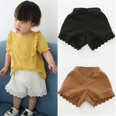 Summer Toddler Baby Kids Girls Cotton Shorts Pants Casual Beach Short Trousers