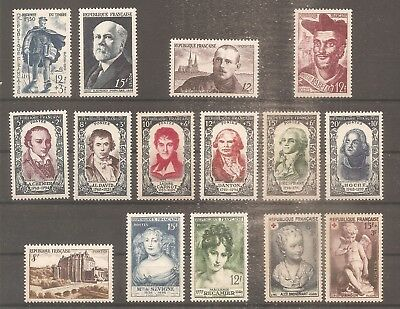 Timbre France Frankreich Annee 1950 N°863/877 Neuf** Mnh
