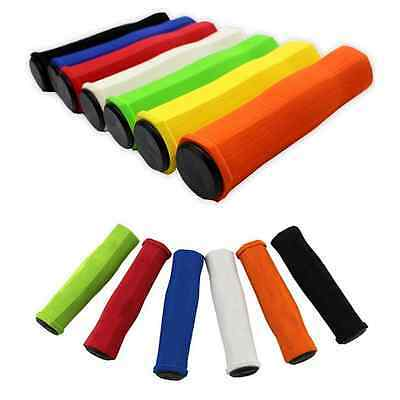 Handle Bar Grips Scooter BMX MTB Mountain Bike Bicycle Cycle Ultralight Sil D9Q1