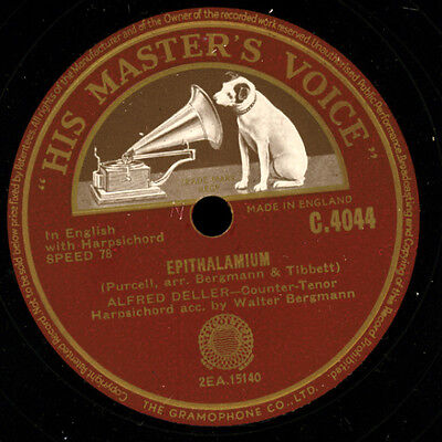 ALFRED DELLER -COUNTER-TENOR- Epithalamium / Sweeter than Roses    78rpm   G3276