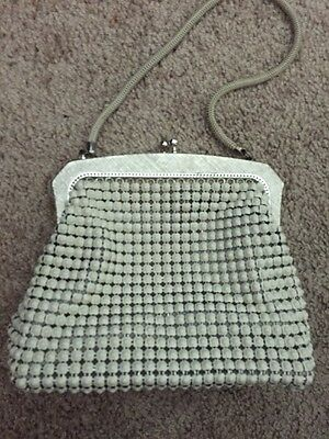 Genuine Regal Beige Mesh By Park Lane Small Evening Bag