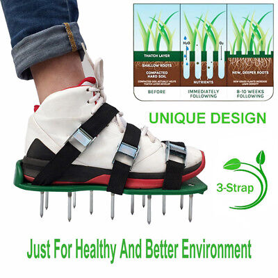 Grass Loose Soil Shoes Grass Meadow Durable Spikes Ripper Lawn Aerator Shoes