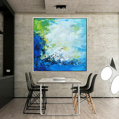 Canvas oil painting abstract blue Acrylic painting wall art picture home decor15