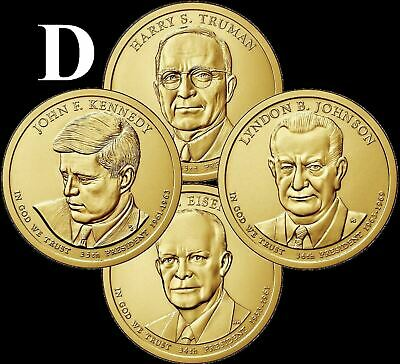 "A 2015 D Presidential Dollar COMPLETE 4 Coin Set ""Brilliant Uncirculated"" COINS"
