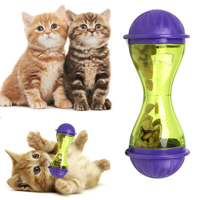 Cat Dog Feeder Plastic Fun Pet Food Dispenser Treat Ball Puppy Leakage Food Toy