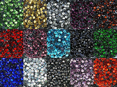ss16 - 720pcs Iron On Hot Fix Rhinestones in Varies Colours - Aus Stock