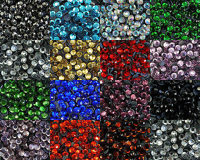 ss20 - 288pcs Iron On Hot Fix Rhinestones in Varies Colours - Aus Stock