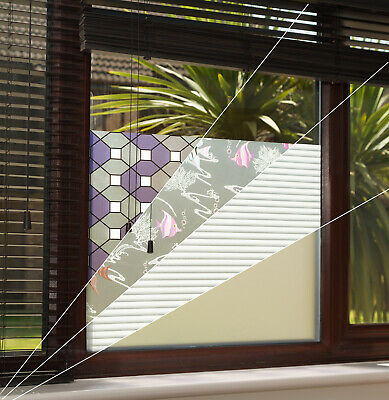 Decorative Frosted Privacy Window Film Tint / Glass Tinting 1-21 *15 FREE TOOLS*