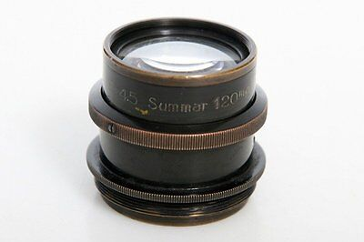 Leica Summar 120mm f4.5 barrel Lens - uncoated