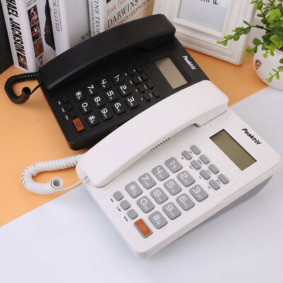 Corded Phone Number Storage Landline Caller ID Desktop Home Telephone Desk Hotel