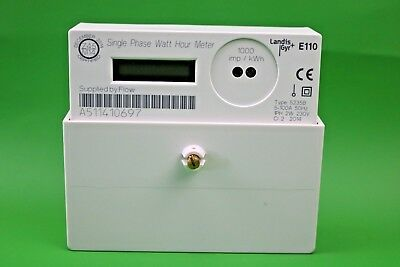 Electricity Meter Landis + Gyr E110 Single Phase Watt Hour Meter 100A OFGEM