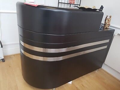 Beauty Salon Reception Desk Black Curve Used