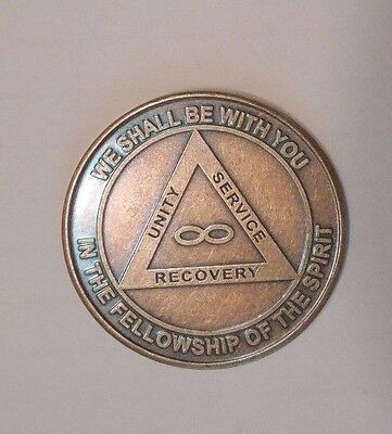AA 12 STEPS INFINITY WE SHALL BE WITH YOU alcoholics Coin Token Medallion NEW