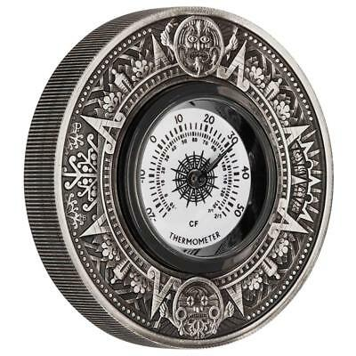 Tuvalu 2 Dollar 2018 - Thermometer Münze - 2 Oz Antik Finish