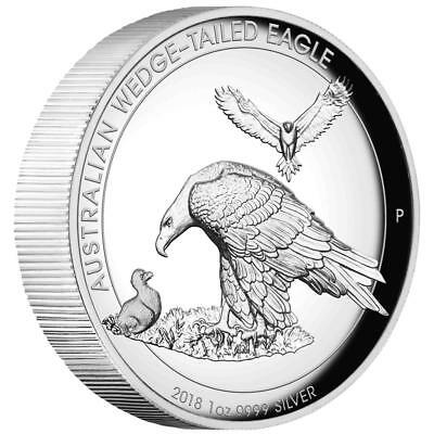 Australien 1 Dollar 2018 - Wedge Tailed Eagle - 1 Oz Silber PP - High Relief