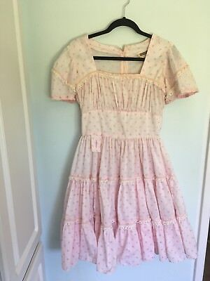 Square Wear Pink Flower Square Dancing Dress