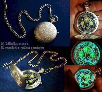 Doctor Who Masters Metal Fob Watch - Official Working Light up Prop Replica