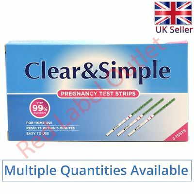 Clear & Simple Early High Sensitivity Pregnancy 20mIU of HGC Urine Test Strips