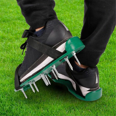 Lawn Aerator Shoes Grass 13 Nails Spikes 3 Straps with Buckles Size Adjustable #