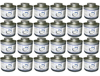 Box Of 24 Tins 6+ Hour Liquid Chafing Fuel For Chafing Dishes & Hot Buffets Etc