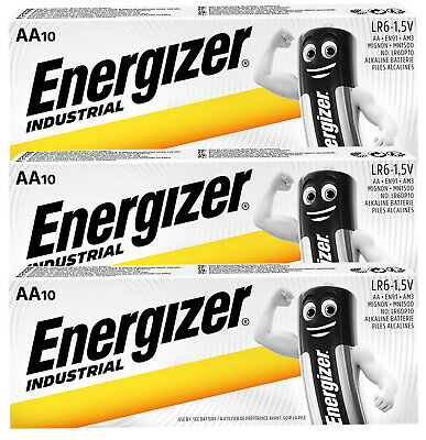 30 X Energizer Aa Industrial Battery Mn1500 Alkaline Replace Procell Expiry 2024