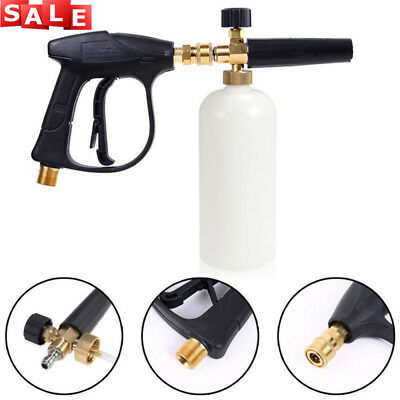 "1/4"" Pressure Snow Foam Washer Jet Car Wash Adjustable Lance Soap Spray Cannon"