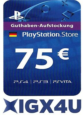 PSN 50 EUR EURO Playstation Network Card Key 50€ Prepaid Card - PS3 PS4 PSP - DE