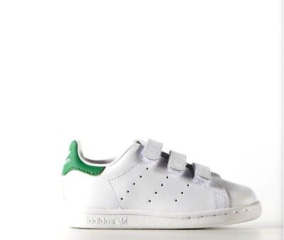 b3b80828864 ADIDAS STAN SMITH CF Infants White Red Infant Size 8K US BZ0523 ...