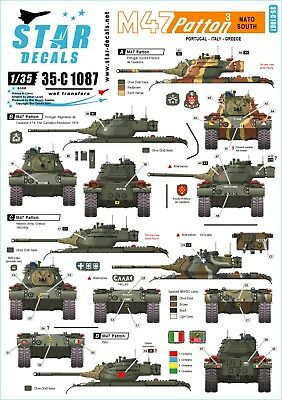 Star Decals 1/35 NATO South. Portugal, Italy and Greece  M47 Patton #3 35c1087
