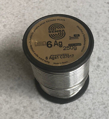 250 gr 1 coil Welding Tin Silver Sn94 Ag6 0 3/32in DIN1707L use Water Drinking