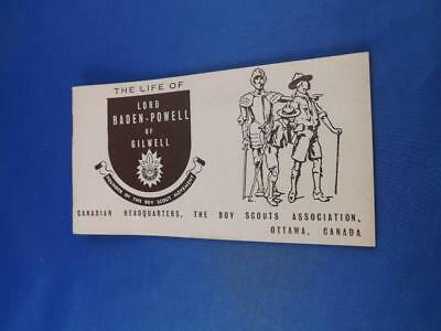 The Life Of Lord Baden Powel Of Gilwell Booklet Boy Scouts