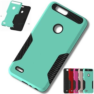 Hybrid TPU+PC Hard Shockproof Rubber Cover Case For ZTE Sequoia/Blade Z Max Z982