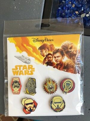 Disney Parks 6 Pin Booster Set Star Wars Solo Movie Brand new